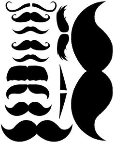 Printable staches for cups or props. Also great father& day printables! Moustache Party, Mustache Cookies, Mustache Cards, Mustache Birthday, 2nd Birthday, Moustaches, Silhouette Cameo, Dads Root Beer, Ideas Party