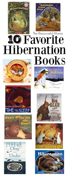 Books about hibernation for kids from The Resourceful Mama! #books #winter