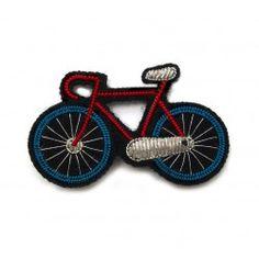Macon et Lesquoy Broche brodée - Bicyclette tricolore