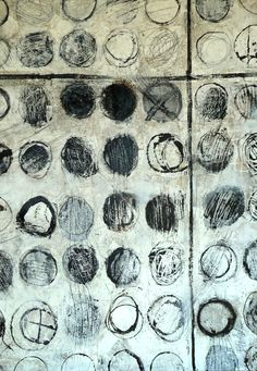 Black and white - dots - frantic meditation - gallery - mixed media - Brenda Holzke Encaustic Painting, Painting & Drawing, Modern Art, Contemporary Art, Creation Art, Art Sculpture, Wow Art, Street Art, Mark Making