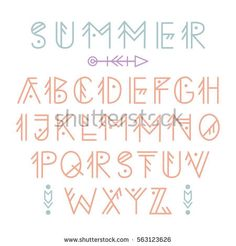Vector Ethnic Aztec Font English Alphabet Stock Vector 563123626 - Shutterstock