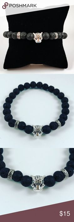 Men black lava rock panther head beaded bracelet Men beaded bracelet. Fits most , 7.5 to 8.5 inch wrist. Handmade by me , never worn by anyone. Made with black lava beads / volcano rocks .Tibetan silver panther and deco charms. I ship fast!!😊✈️😉 Bundle and save! ( 10 % off bundles) . Any questions let me know! 🚫No transactions outside Poshmark!! Accessories Jewelry