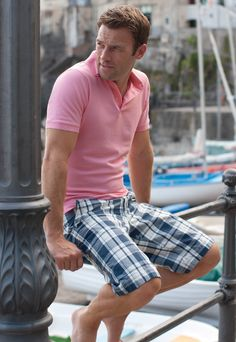 Jay Shorts in Navy and White Check is an essential for any Summer wardrobe #SharpForSummer