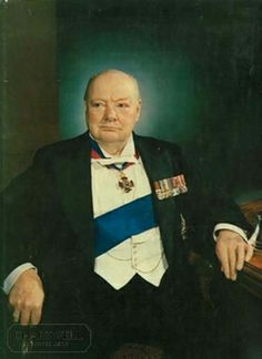 On this day 24th April, 1953 Winston Churchill was knighted by Queen Elizabeth II  B. Lowe