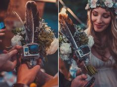 Gopro on a bouquet to record the flight is a cool idea! :)