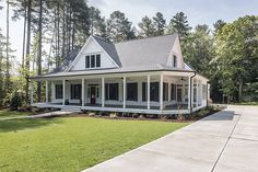 Southern Living farmhouse revival plan no. 1821 Black and …   Flickr