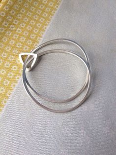 Modern Love Bangle Set with Triangle ring by anthaus on Etsy, $175.00