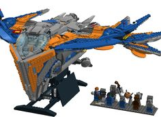 """After watching; Marvels Guardians of the Galaxy and getting excited about the Lego sets based on the movie, I wanted to make my own Movie accurate version of """"The Milano"""", Sta..."""