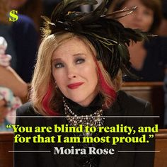 Catherine O'hara, Schitts Creek, Tv Show Quotes, Celebrity Travel, Life Memes, Life Quotes, Best Tv, Favorite Tv Shows, Favorite Things