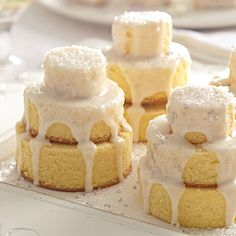 Mini Wedding Cakes #PamperedChef #BridalShower #Recipes www.pamperedchef.biz/wendyjo74