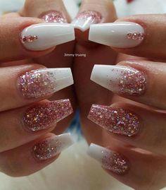 # Nails nails # nails # nails ideas # nails ideas - Valentinstag Nägel - Make Up Aycrlic Nails, Matte Nails, Fun Nails, Matte Pink, Matte Black, Black Wedding Nails, Black White Nails, Nagel Hacks, White Nail Designs