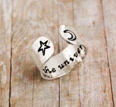 Sterling silver Trust the universe secret message by ZennedOut, $39.50
