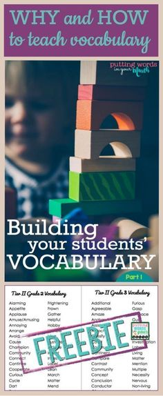 WHY & HOW to teach new vocabulary - and WHICH words to teach! {for grades K through 12}