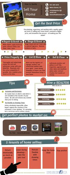 Great #Tips for Selling Your Home #Infographic.