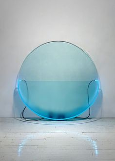 KEITH SONNIER:    Lit Circle Blue with Etched Glass (Lit Circle Series), 1968 // Armory Show 2013: 10 Art Pieces with Light as a Subject