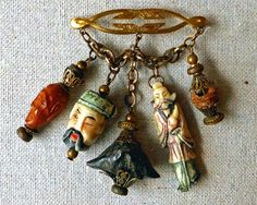 When I first became interested in cloisonné dragon beads, a beadcollector.net member observed that these beads showed up in costume jewelry...