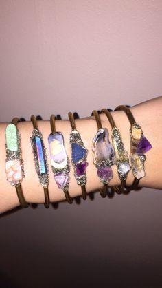 Crystal Visions Cuffs by thegypsyfawn.etsy.com