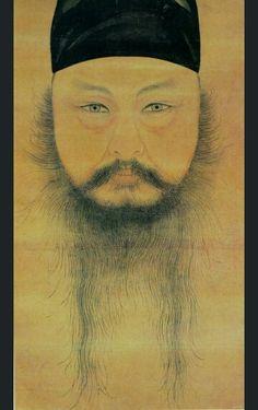 공재 윤두서의 자화상 尹斗緖 自畵像 국보240호 38.5×20.5cm 종이에 수묵담채 개인소장  윤두서 (1668~1715)  Painted by Yun Doo- Seo