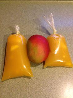 Frozen Mexican Mango Fruit Treat, Helados de bolsa #treat #dessert #recipe #fruit