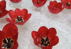 Make a bubble wrap skirt so flowers can more easily float in water: flower arrangements, centerpieces, and event decor