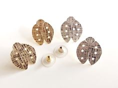 Ladybug earrings, Gold post Silver stud earring handmade Lady bug, goldsmith unique piece, Ladybug Jewelry