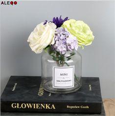 Aliexpress.com : Buy Scandinavian Minimalist Chic Glass Storage Jars Modern Elegance Desk Storage Bottle Organizer Superior Gray Flower Container from Reliable Storage Bottles & Jars suppliers on ALEQO Official Store