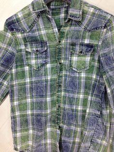 SCOTCH 412 - HASELLER Denim Shirt Men, Mens Flannel Shirt, T Shirt, Fashion Shirts, Boy Fashion, Checked Shirts, Tartan, Plaid, Indigo Dye