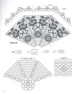 Home Decor Crochet Patterns Part 104 - Beautiful Crochet Patterns and Knitting Patterns Crochet Doily Diagram, Crochet Stitches Patterns, Thread Crochet, Crochet Motif, Crochet Shawl, Cross Stitch Patterns, Lace Doilies, Crochet Doilies, Crochet Lace
