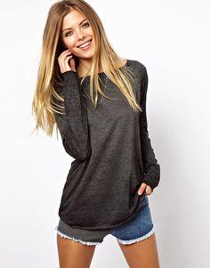 LK- Long sleeve grey plain top, my style! *****FAV