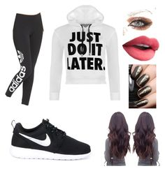 """""""Going for a jog?"""" by ela-abad524 ❤ liked on Polyvore featuring adidas Originals, WearAll and NIKE"""