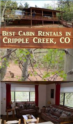 Cripple Creek cabin rentals - Bear Foot Getaway Cabin is a great choice for exploring Cripple Creek, Victor, Mueller State Park and the entire Pikes Peak area. Cripple Creek Colorado, Colorado Cabins, Places To Rent, Places To Visit, Getaway Cabins, Mountain High, Pikes Peak, Cabin Rentals, Hiking Trails