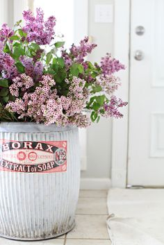 love this container and lilacs