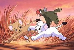 Kimba the white lion.   Watched this cartoon when I was young. Simba took its place.