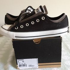 LISTING CONVERSE CT DBL UPPER OX SIZE 8Men,10Wmn -BRAND NEW IN BOX (NO LID) -SIZE: 8MEN, 10WOMEN -DESCRIPTION: UPPER TEXTILE; LINING TEXTILE; OUTSOLE RUBBER -COLOR: BLACK/CHARCOAL         ⭐RATED SELLER  FAST SHIPPER NEXT DAY SHIPPING  ❌NO TRADE ❌NO PAYPAL  ✅BUNDLE OFFER Converse Shoes Sneakers