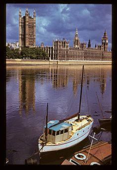 Houses of Parliament, 1957 by Krogen, via Flickr