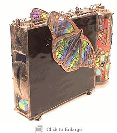 Papillon Butterfly by Kaleidoscope Artist, Sue Rioux  Ohh I just want to  touch it so bad!! wow wow oh my must have
