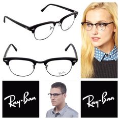 RayBan Clubmaster (Unisex) Never worn Clubmasters. They are extremely trendy right now.