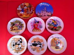 DISNEY MICKEY MOUSE COLLECTORS PLATE SET DISNEYLAND LOT DONALD DUCK CHIP N DALE
