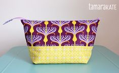 tamara kate's zippered pouch. We have this art gallery fabric in stock! (6/18/2004)