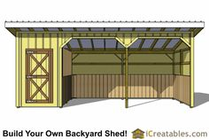 12x24 Run In Shed And Tack Room Plans
