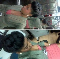 Beautiful natural hair style