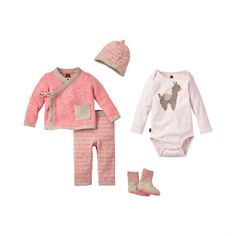 Cerro Bonete Pink Set | A little bit of everything you'll need for your new baby. Click on style names below for details: