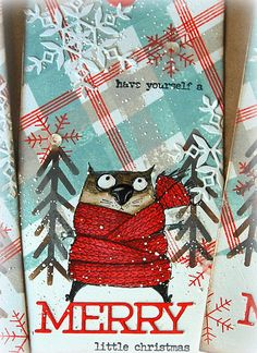Die Cut Christmas Cards, Merry Little Christmas, Christmas Gift Tags, Christmas Cats, Holiday Cards, Tim Holtz Stamps, Christmas Arts And Crafts, Cat Cards, Scrapbook Cards