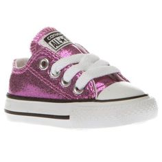 Girls Pink Converse All Star Ox Glitter Toddler  48a26c13a7856