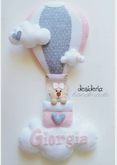 Balloon Birthday Themes, Baby Shower Images, Pillow Crafts, Baby Frame, Felt Wreath, Baby Sewing Projects, Baby Bedding Sets, Felt Baby, Felt Decorations