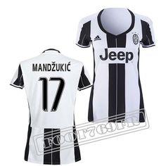 Promo Maillot Du Mandzukic 17 Juventus Femme Noir/Blanc 16/17 Domicile : Serie A
