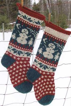 Personalized Knit Christmas Stocking, 100% Wool - Gingerbread Men ...