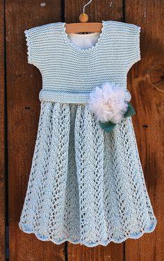 Knitted Vintage Baby Dress Pattern for PDF digital download