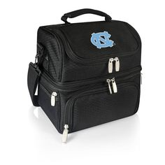 Picnic Time North Carolina Tar Heels 7-Piece Insulated Cooler Lunch Tote Set, Black
