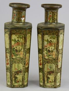 HUNTLEY & PALMERS VASES & PEDESTAL BISCUIT TINS